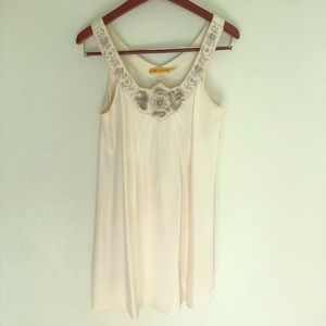 White dress with embellishment